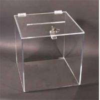 Fashion Custom Clear Acrylic Display Box With Lid , Silk Screen Printing Manufactures