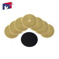 China Concrete Granite Wet Diamond Polishing Pads 7 Grits OEM Service Easy To Use on sale