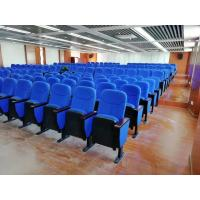 China 580*750*1000MM Auditorium Church Folding Theater Seats Rubber Wood Armrest on sale