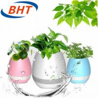 Touch Sensitive Led Lighted Flower Pots 10 Meter Bluetooth Distance Water Outlet Manufactures