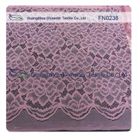 Fancy Pink Scallop Nylon Wedding Lace Fabric ±140CM Width For Summer Clothes Manufactures