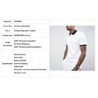 clothing factory men white slim fit tennis polo shirt cotton with contrast rib and cuff Manufactures
