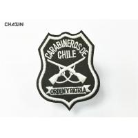 Green Twill Military Embroidered Patches With Merrowed Border , Stitch Border Manufactures