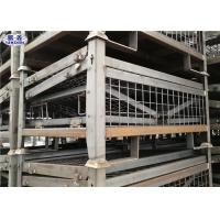 Heavy Duty Pallet Storage Cage Folding Galvanized Metallic Box 1200*1000*890mm Manufactures