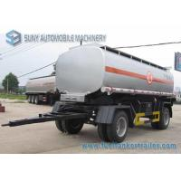 15000 L 2 Axles Oil Tank Trailer , Full stainless steel tanker trailers For Water / Chemical / LPG Manufactures