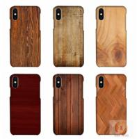 Customized Wood Printed Cell Phone Covers For IPhone X , 3D Sublimation Blank Phone Case Manufactures