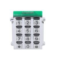 IP65 waterproof rugged 3X4 die cast numeric keypad with back lighted lighting for security system Manufactures