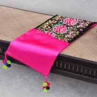 promotional Christmas gift alibaba decorative embroidery pompom tablecloth Manufactures