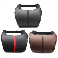 China Hot sell leather material black car use god quality car neck pillow on sale