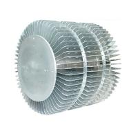 Industrial Extruded Aluminum Heatsink For LED Fixture Round Extrusion Heatsink Profile Manufactures