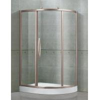 Clear / Printed Tempered Glass  Shower Cubicles Offset Quadrant Sliding With Outside Rollers Manufactures