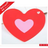 Heart Shape Custom Acrylic Products , Desktop Acrylic Drink Coaster Manufactures