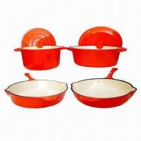 China 6-piece Enameled Cast Iron Cookware Set, Various Colors are Available on sale