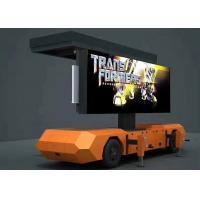 Movable Solar Powered Vehicle Led Display , Trailer Mounted Led Screen DIP346 Manufactures