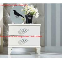 Ivory Classic Bed side table with wooden drawers for Nightstand design used by Hotel and Villa Furniture Manufactures