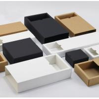 Custom Printed Clothing Paper Boxes , Drawer Type Paper Shopping Box Manufactures