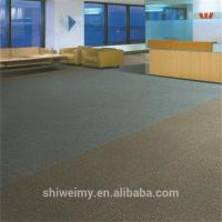Ribbed surface double colors striped level loop PP carpet tiles Manufactures