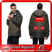 Waterproof Jacket With Battery Heating System Electric Heating Clothing Warm OUBOHK Manufactures