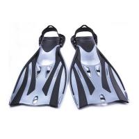 Long Blade Scuba Diving Fins Travel Scuba Fins Waterproof Silicone Rubber Material