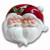 Paper Mache Christmas Santa Plaque with Height of 12 Inches Manufactures