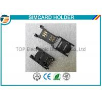 2.54MM Pitch SIM Card Holder / SAM Card Holder with HINGED TYPE 6 Pin TOP-SIM01-1 Manufactures