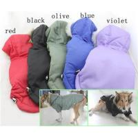 China Large Dog Warm Winter Dog Coats and jackets Red , Black Color on sale