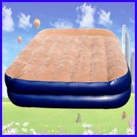 PVC Flocking Covered Inflatable Air Beds , Portable Air Mattress Manufactures