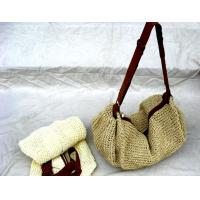 27428 straw beach bags online straw shoulder tote bag Manufactures