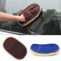China Fast Car Cleaning Sheepskin Leather Wash Mitten on sale