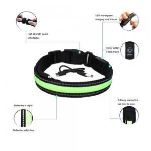 Buy cheap Inflatable Smart LED Dog Collar / Custom Nylon Flashing Dog Leashes from wholesalers