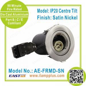 Buy cheap IP20 Tiltable Satin Nickel Fire Rated Downlight   LED Spotlight   Halogen Lamp from wholesalers