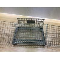 China Wire Mesh Container Portable Storage Cage Metal Box Folable on sale