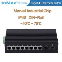 Buy cheap 10 Ports Full gigabit network Switch with 2 SFP slots 10 /100/1000Mbps IP40 from wholesalers