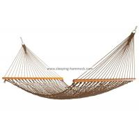 Portable Folding Outdoor Rope Hammock Double Hanging Tree Spreader Bars Antique Brown Manufactures