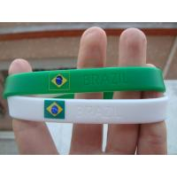 Country Flag Wristband Bracelet, Silicone Bracelets for Brazil 2014 World Cup Manufactures