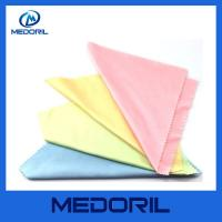 China Wholesale microfiber sunglasses cleaning cloth with custom logo on sale