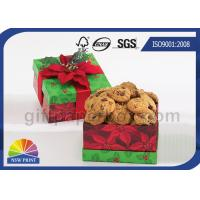 Cookie / Chocolate Food Packaging Box , Customized Gift Wrapping Boxes with Art Paper Manufactures