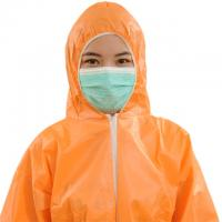SMS SMMS Disposable Safety Coveralls , Disposable Orange Overalls Waterproof Manufactures