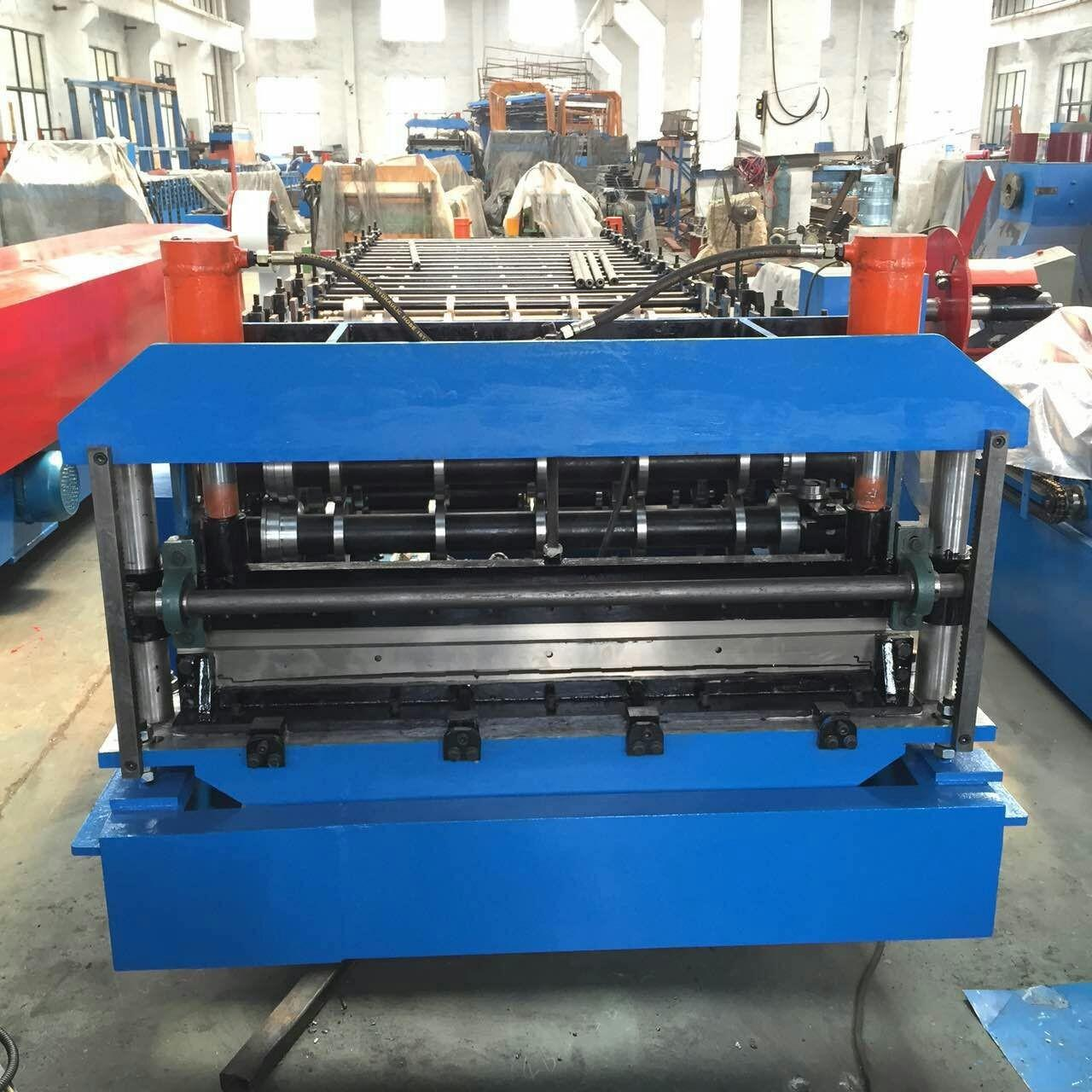Combo Roof Sheet Roll Forming Machine for PUF Panel Bottom Sheet and Top Sheet Manufactures