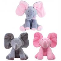 Musical Peek a Boo Elephant Play Hide And Seek Electric Baby Cuddle Plush Toys Manufactures