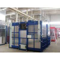 Paited Blue Single Cage Hoist 2000KGS High Capacity , Cage Style Manufactures