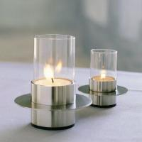 Colorful Electroplating and micro-carving glass candle holder