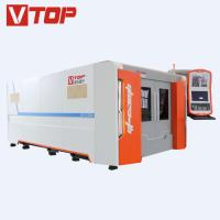 China all cover 1530 fiber laser cutting machine for stainless steel with exchange table on sale