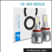 Car Accessories LED H9 Headlight Bulb Lamp 6000K 36W 3800LM LED Headlight White C6 Manufactures