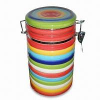 Ceramic Airproof Canister, OEM Orders Welcome, EEC Food Safe and Meet FDA Standard Manufactures