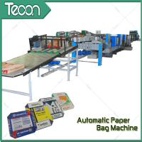33KW Paper Bag Tuber and Bottomer Machinery With 4 Color Printer Manufactures