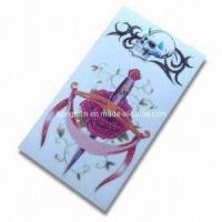 Temporary Tattoo Sticker With Glitter Powder (HTST050) Manufactures