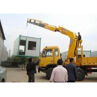 Small Truck Mounted Crane Max Working Height 6.55 Meter , Construction Lifting Machinery Manufactures