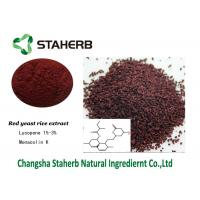 Lovastatin Monacolin K Red Yeast Rice Extract Red Fine Powder Colorant Function Manufactures