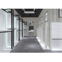 Quality Simple Nice Men Clothing Display Case / Apparel Store Fixtures Glossy White Color for sale